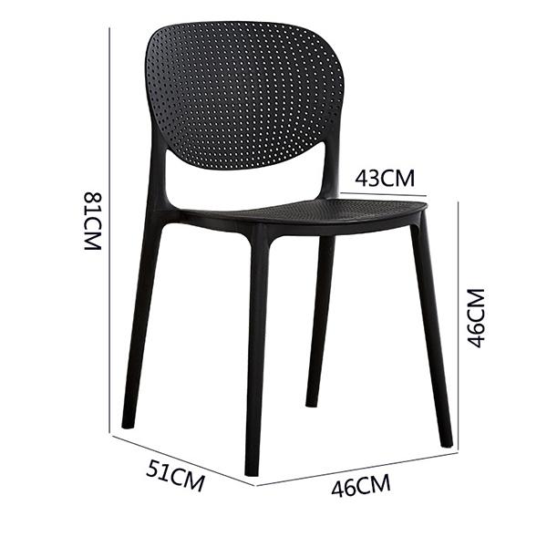 Kích thước ghế nhựa Hol Sankyo