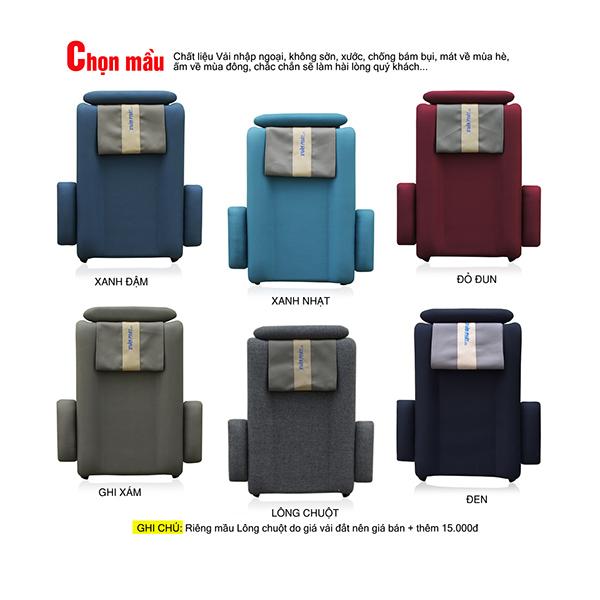 Ghế ngủ văn phòng GN01 có nhiều màu sắc khác nhau