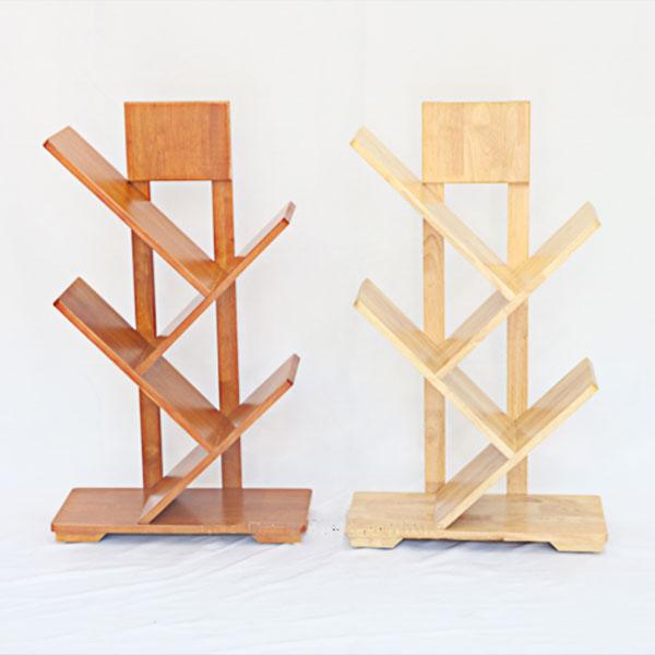 Kệ Sách Xương Cá 3 tầng gỗ cao su