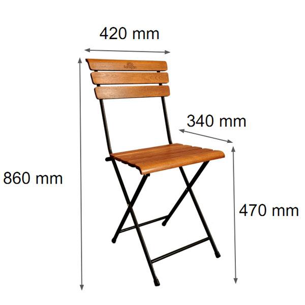 Kích thước ghế Patio 1