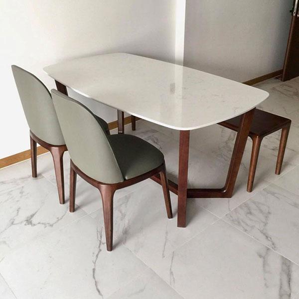 Bàn Concorde là sản phẩm đẹp và được ứng dụng làm bàn ăn nhiều nhất kết hợp với ghế Grace