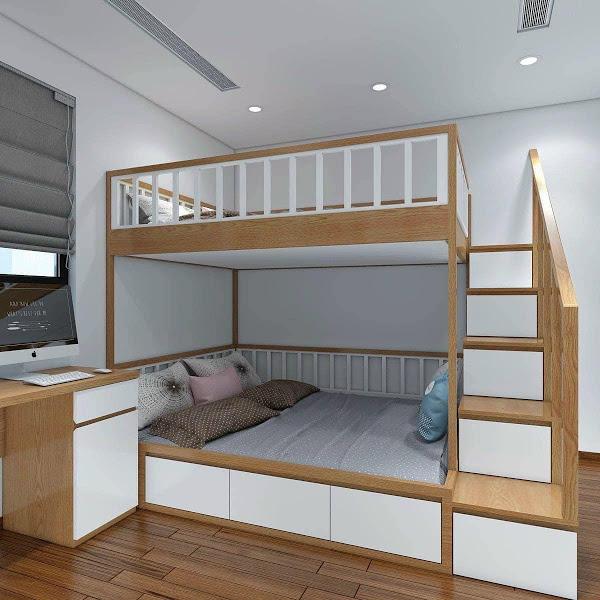 Giường tầng gỗ công nghiệp đang phổ biến nhất hiện nay