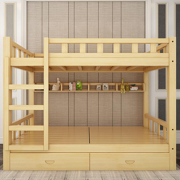 Mẫu Giường Tầng Đơn Giản được làm từ gỗ thông