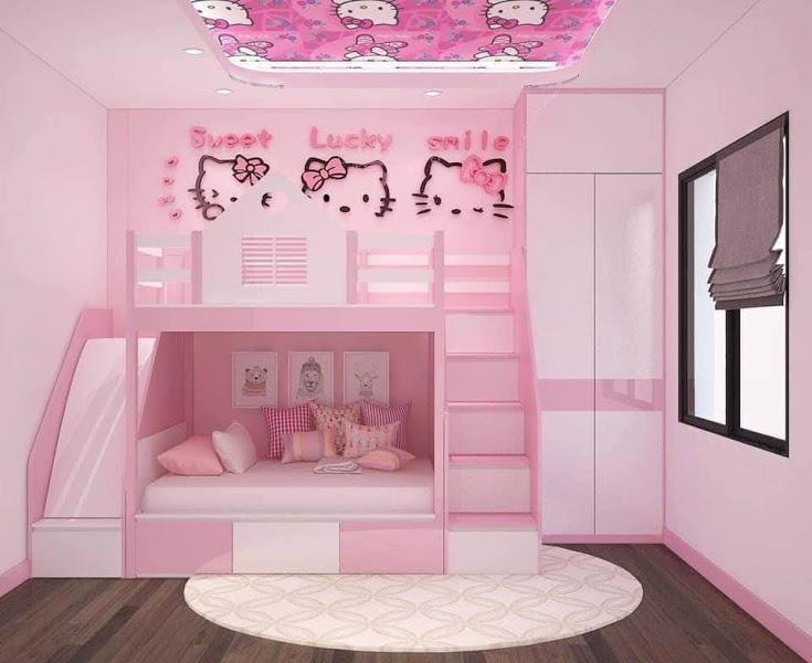 Giường tầng kết hợp với tủ quần áo
