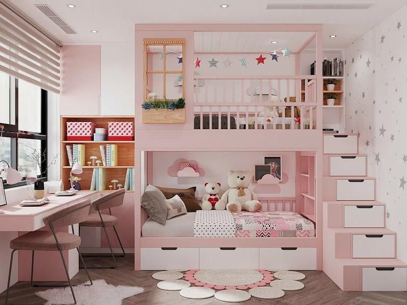 Những Mẫu Giường Tầng Cho Bé đẹp nhất 2021