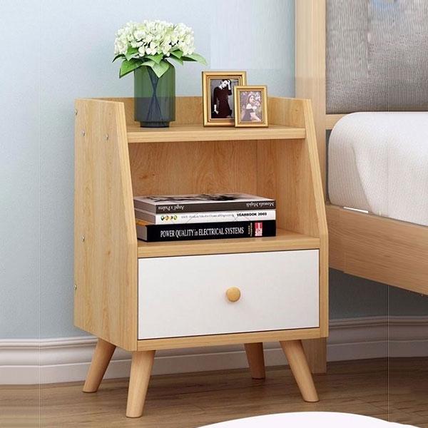 Tủ Để Đầu Giường phần trên được thiết kế Vát cách điệu