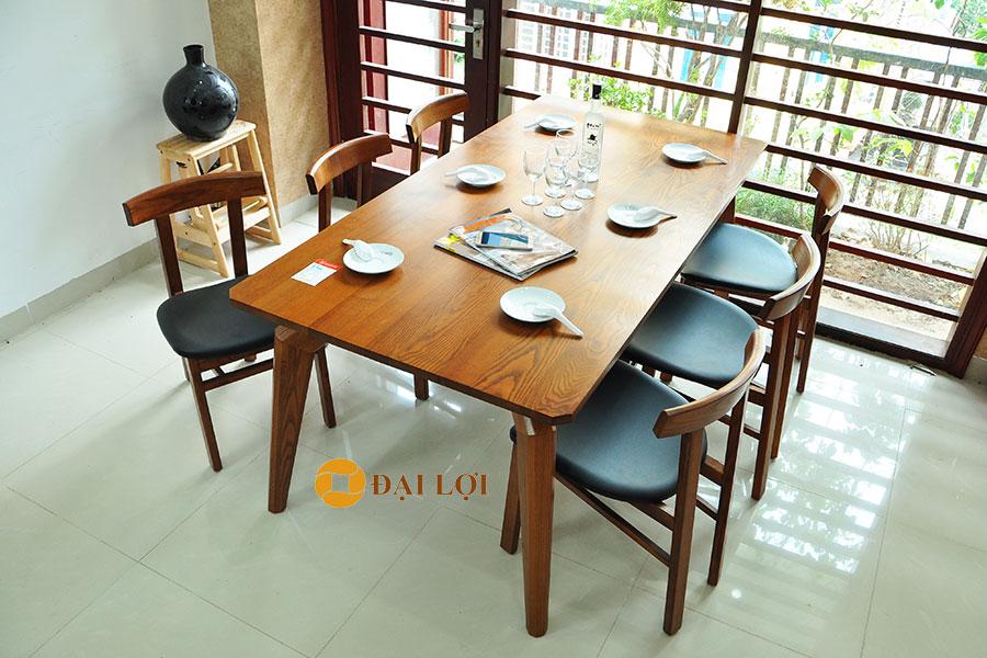 Bộ bàn ăn gỗ 6 ghế Dragon 107