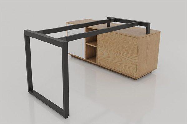 chân bàn BCL-005 được cấu tạo từ sắt hộp 2,5 x5 sơn tĩnh điện màu đen