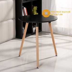 Bàn Eames tròn 3 chân 60cm màu đen
