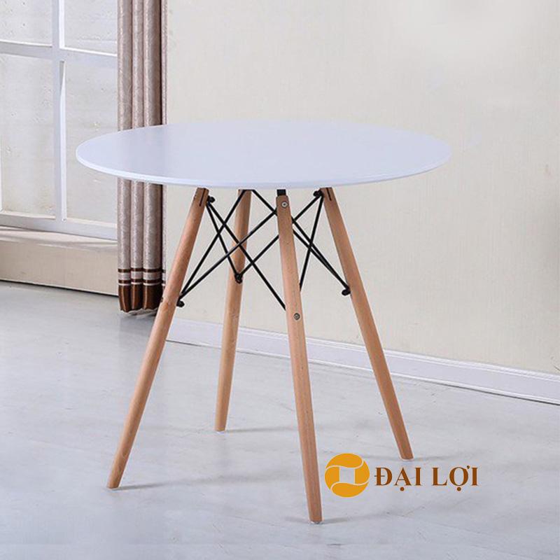 Bàn Eames tròn đường kính 80cm màu trắng