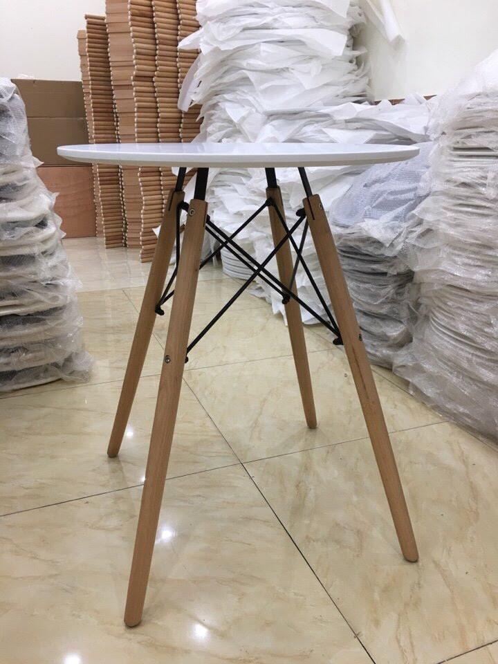 bàn Eames tròn 80cm màu trắng