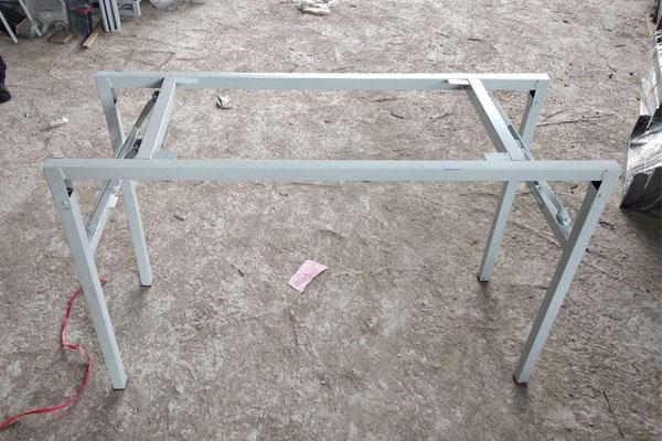 Chân bàn khung sắt gấp gọn
