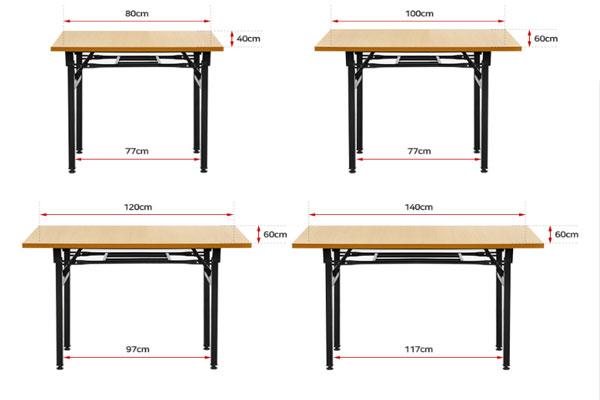 Kích thước bàn gấp DL02 kích thước đa dạng