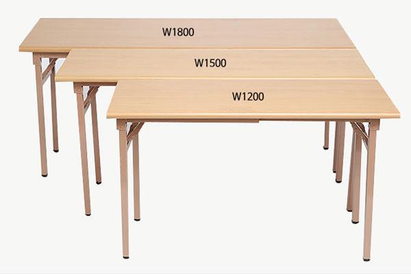 Kích thước bàn gấp DL02 khác nhau về chiều dài rộng