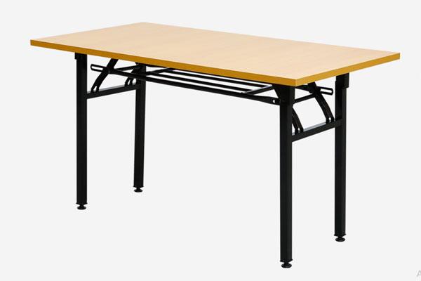 Ảnh thực tế sản phẩm bàn gấp gọn chân sắt DL02 màu nâu đỏ