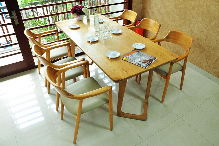 Bàn ghế ăn gỗ tự nhiên cao cấp DRAGON 106