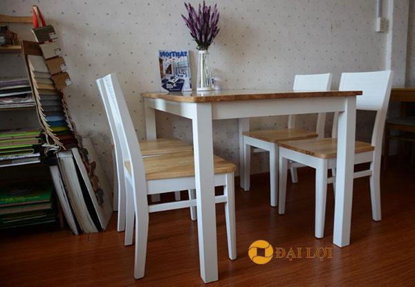 Bộbàn ghế phòng ăn hiện đại Cherry màu trắng