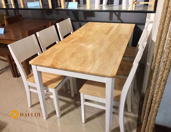 bộ bàn ăn 6 ghế hiện đại Cherry