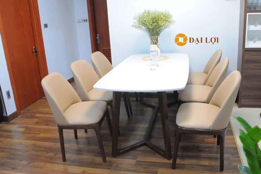 Bộ bàn ghế ăn đẹp hiện đại DRAGON 110