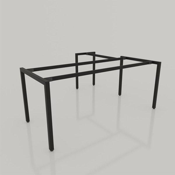 kết cấu chân sắt bàn chữ L BCL-006. (chân sắt hộp 4x4 sơn tĩnh điện màu đen)