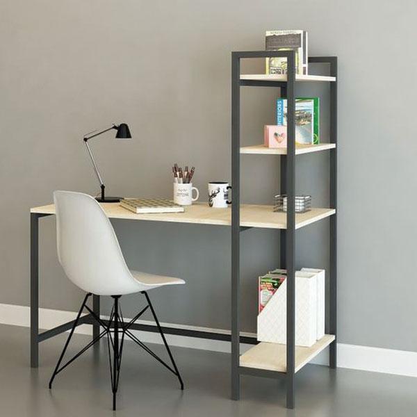 Bộ bàn ghế liền kệ sách kết hợp với Ghế Eames tuyệt đẹp