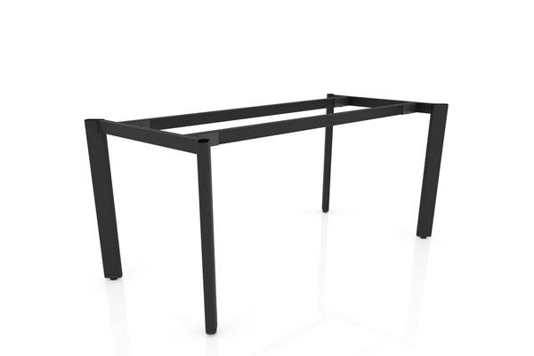 Thiết khung bàn gỗ bằng sắt hộp sơn tĩnh điện