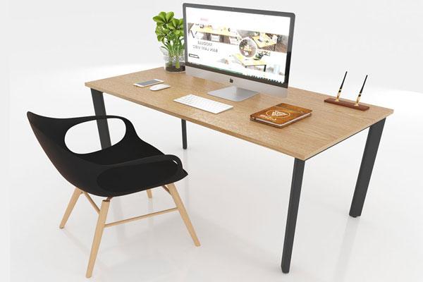 Thiết kế bàn gỗ kết hợp với ghế Eames hiện đại