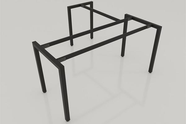 kết cấu chân bàn làm việc chữ L chân sắt