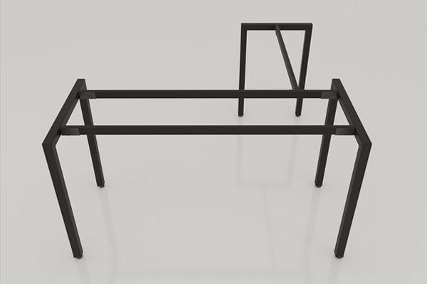 chân bàn làm việc chữ L được cấu tạo từ sắt hợp 4x4 sơn tĩnh điện màu đen