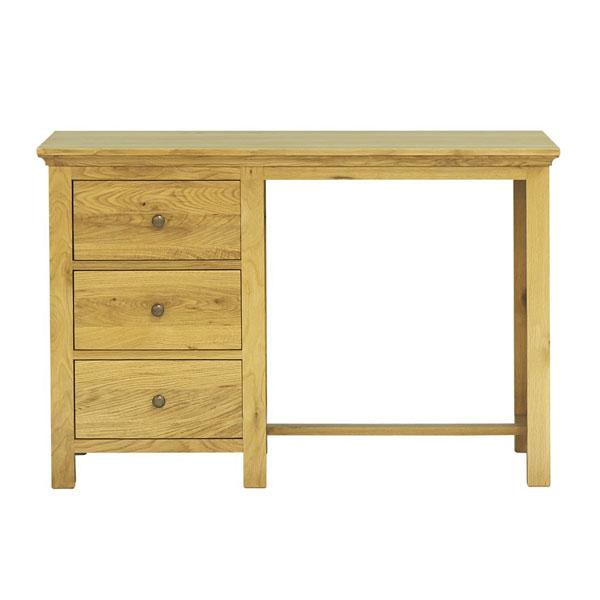 Mặt trước của bàn làm việc gỗ sồi