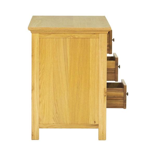 Mặt ngang của bàn làm việc gỗ sồi
