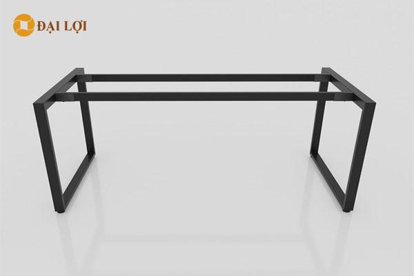 Chân bàn sơn tĩnh điện cao cấp màu đen sử dụng cho bàn dài 2m