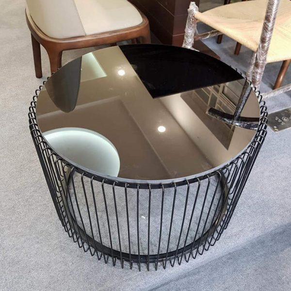 Bàn sofa mặt kính sơn tĩnh điện