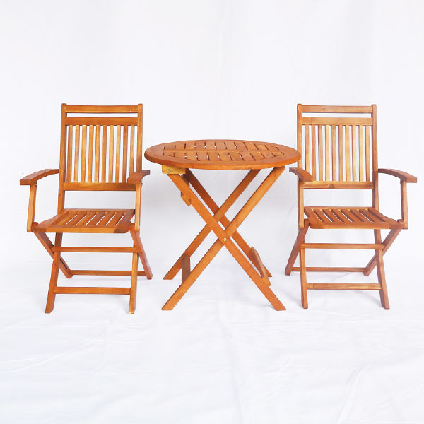 Bàn cafe tròn gấp gọn gỗ tràm kích thước phi 70