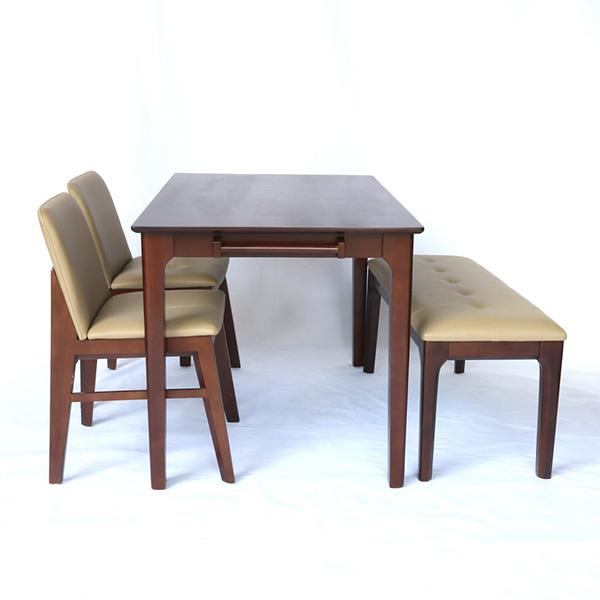 Bộ bàn ăn 4 người Obama có ghế băng