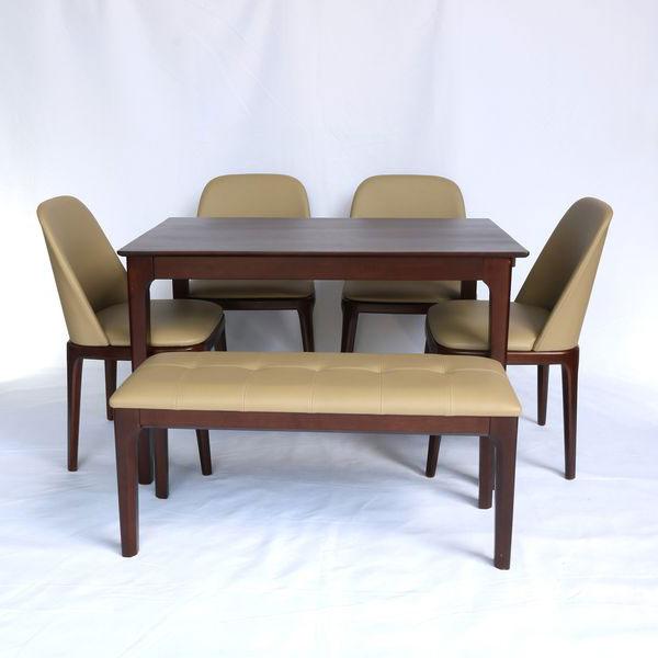 Bộ bàn ăn 4 ghế Grace và ghế băng dài