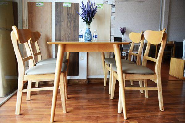 bộ bàn ăn gỗ tự nhiên mango