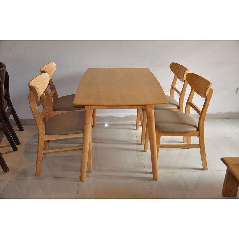 Bộ bàn ăn Mango 4 ghế vàng