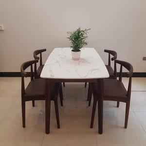 Bộ bàn ăn mặt đá 4 ghế Bull