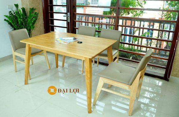 mẫu bàn ăn đẹp kudo 4 ghế màu vàng