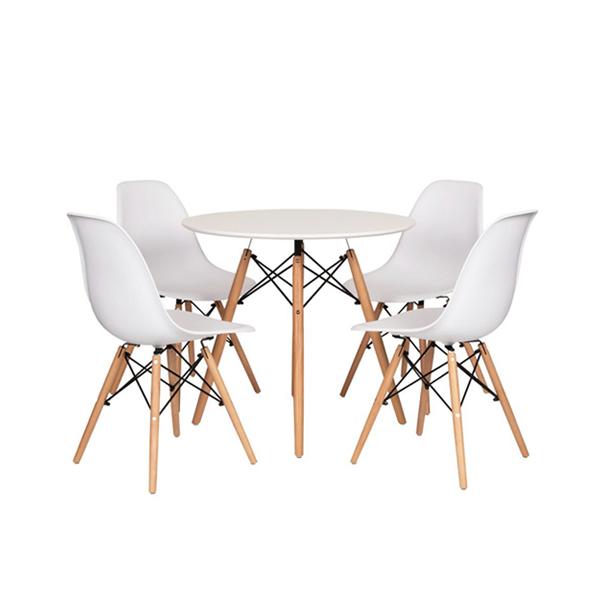 Bộ bàn ghế Eames 4 ghế màu trắng