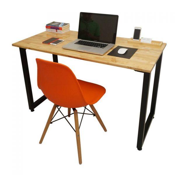 bàn làm việc tại nhà kết hợp với ghế eames cao cấp màu đỏ