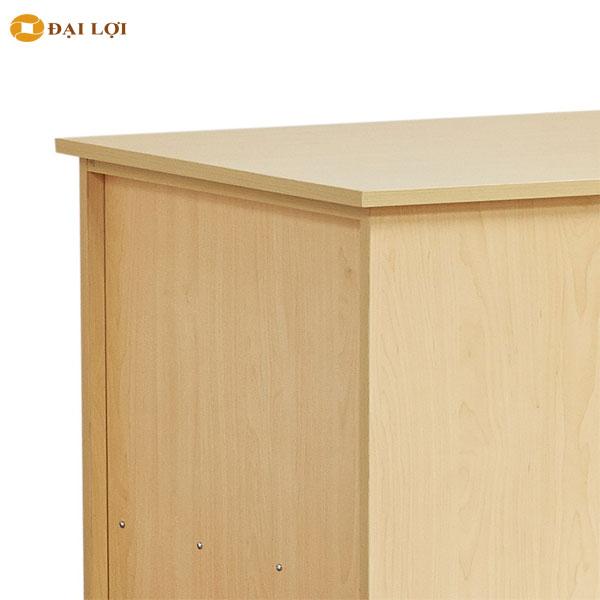 Chất liệu gỗ sử dụng là gỗ Melamine cao cấp chống cháy chống ẩm mốc, và mối mọt