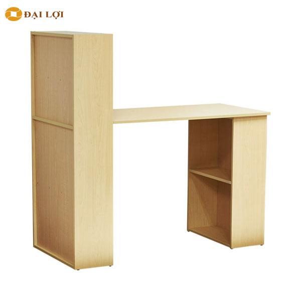Bộ bàn học liền kệ BERNIE thiết kế gồm 2 kệ, 1 kệ cao 1200 mm và 1 kệ cao 750 mm, chân bàn sử dụng là kệ dễ tháo lắp