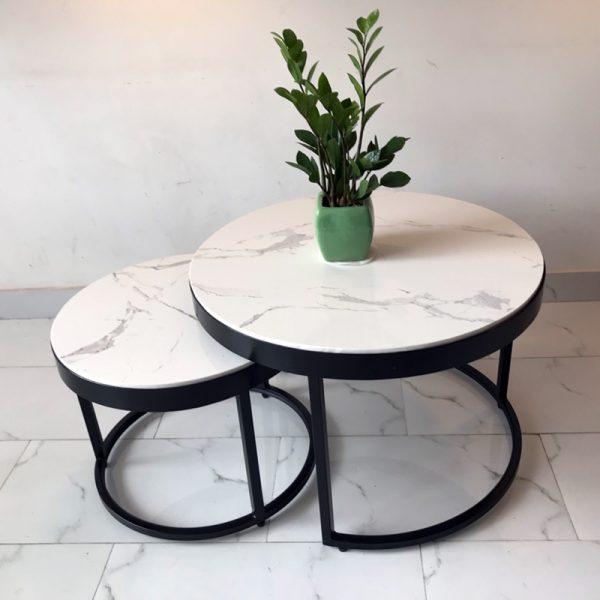 Bộ bàn sofa đôi mặt đá