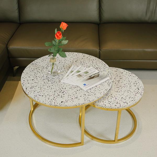 Bộ bàn sofa mặt đá thạch anh tím