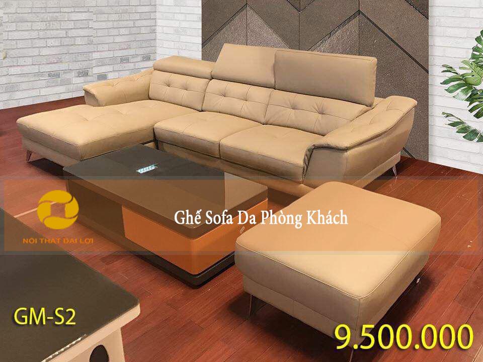 Mẫu 5 - Sofa sử dụng da nhập khẩu Malaisia
