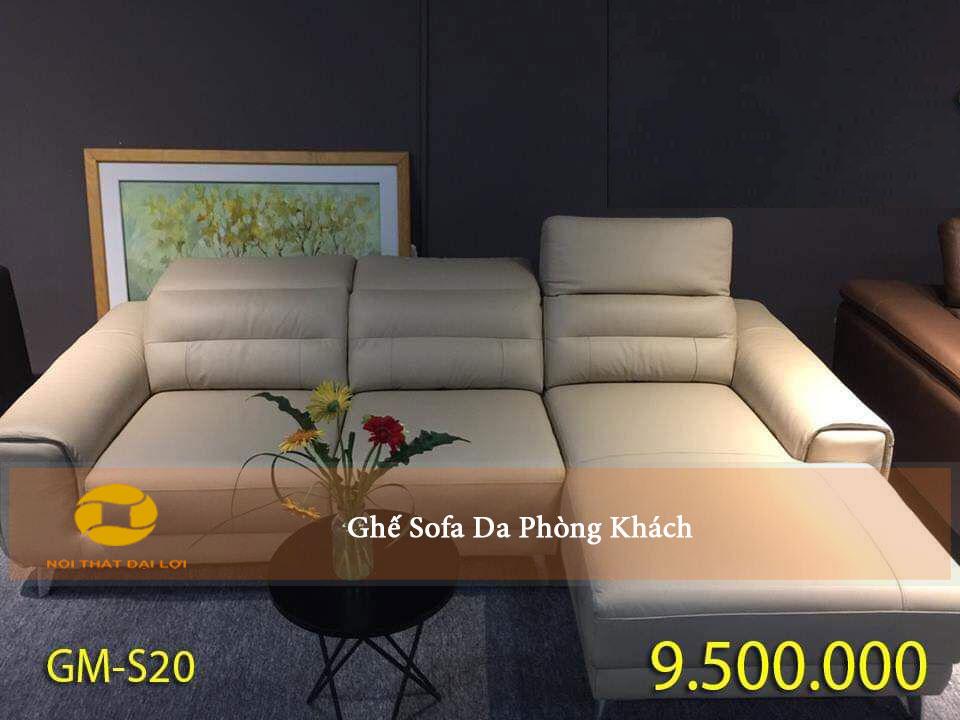 Mẫu 1 - Sofa da kiểu dáng hiện đại cho phòng khách