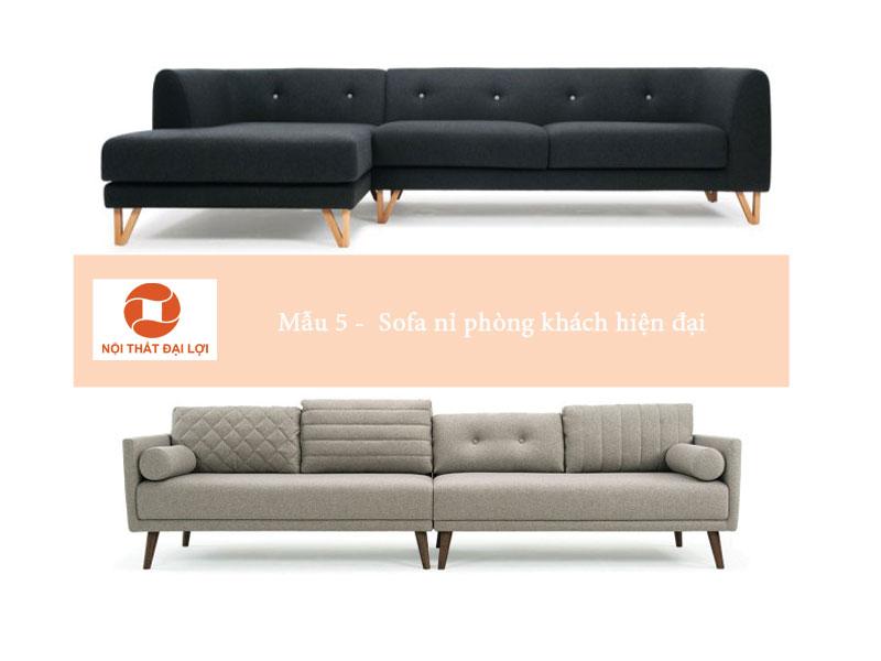 Mẫu 5 - sofa nỉ thiết kế hiện đại