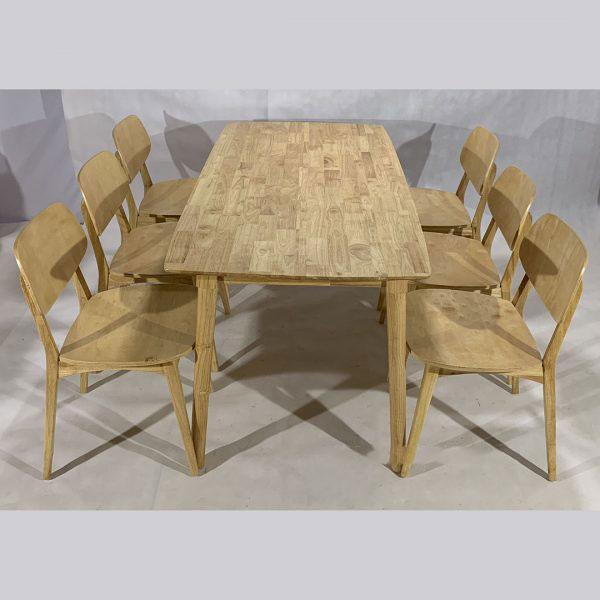 Bộ bàn ăn nan quạt 6 ghế